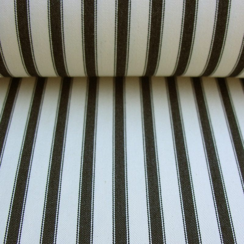 Ticking Fabric Large Black