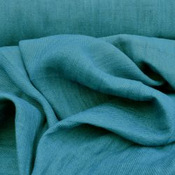 Hand-Dyed Linen Twill - Blue