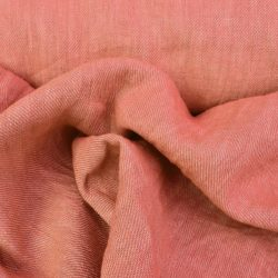Hand-Dyed Linen Twill - Rose