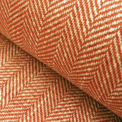 Upholstery Fabric Spey Herringbone Brick Red