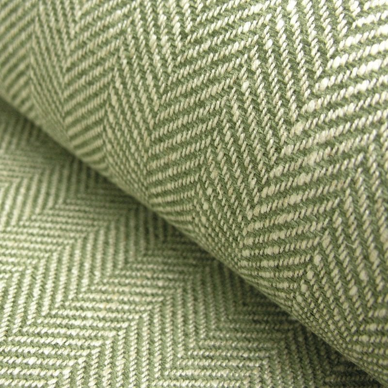 Upholstery Fabric Spey Herringbone Sage Green