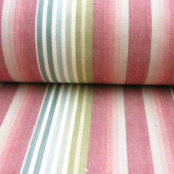 Ticking Vintage Stripe Peony