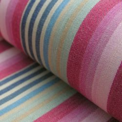 Ticking Vintage Stripe Raspberry