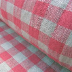 Washed Linen Check Rhubarb Red