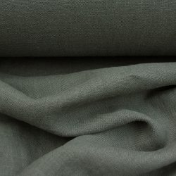 Washed Linen Olive Green