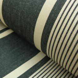 Cotton Stripe William Charcoal Putty