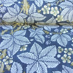 William Morris Linen Print Bramble Indigo and Mineral