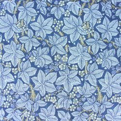 William Morris Linen Print Bramble Indigo and Mineral
