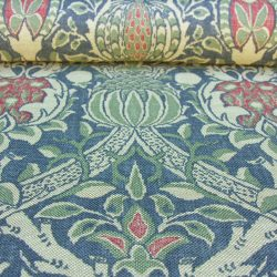 William Morris Printed Linen Granada Blue/Red