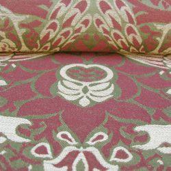 William Morris Fabric Peacock & Dragon Moss and Wine