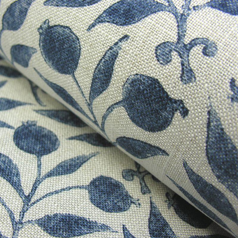 William Morris Fabric Rosehip Indigo