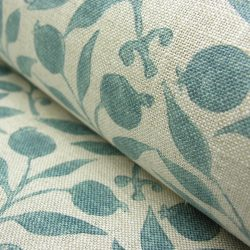 William Morris Fabric Rosehip Mineral Blue