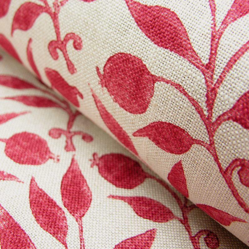 William Morris Fabric Rosehip Rose