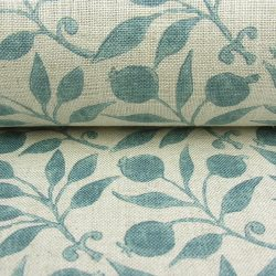 William Morris Fabric Rosehip Mineral Blue