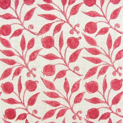 William Morris Fabric Rosehip Rose