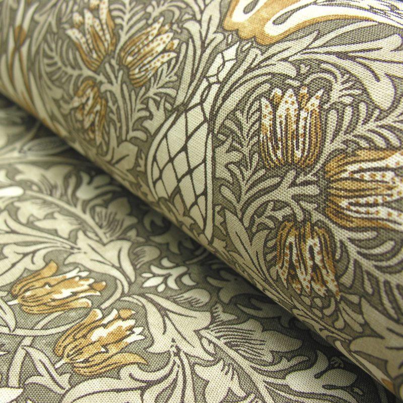 William Morris Linen Snakeshead Pewter/Gold