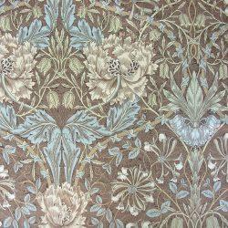 William Morris Linen Honeysuckle Brown/Blue