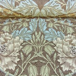 William Morris Linen Honeysuckle Brown/Blue