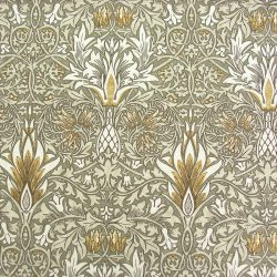William Morris Linen Snakeshead Pewter/Gold