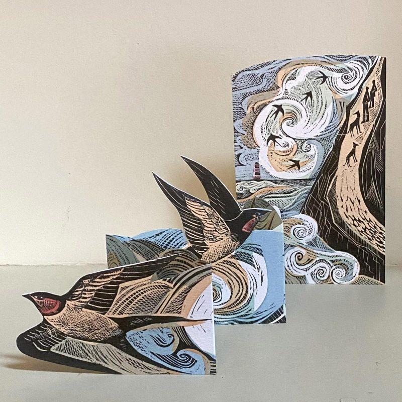 Angela Harding Swallow Card