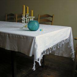 White Cotton Tablecloth