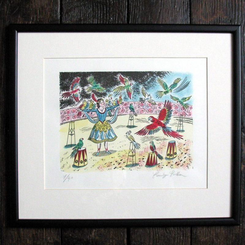 Emily Sutton Bird Charmer Circus print