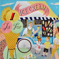 Emily Sutton I is for Ice cream print