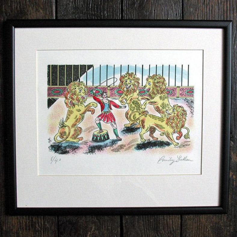 Emily Sutton Lion Tamer Circus Print
