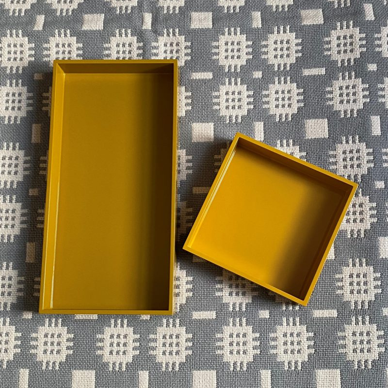 Square Lacquer Tray - Saffron