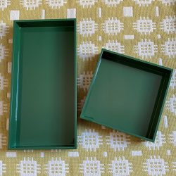 Square Lacquer Tray - Forest Green