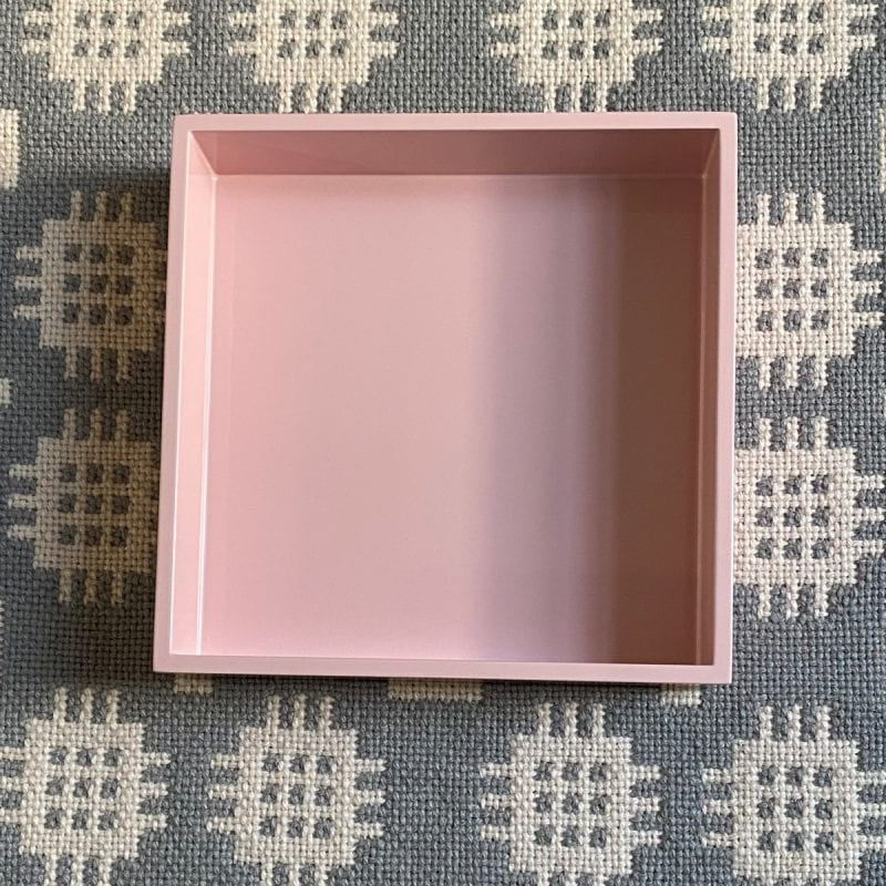 Square Lacquer Tray - Rose Pink