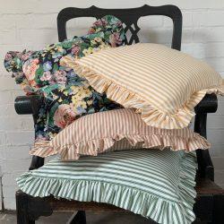 Alpha Stripe Cushion - Mallow
