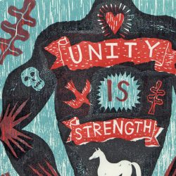 Jonny Hannah Unity is Strength print detail