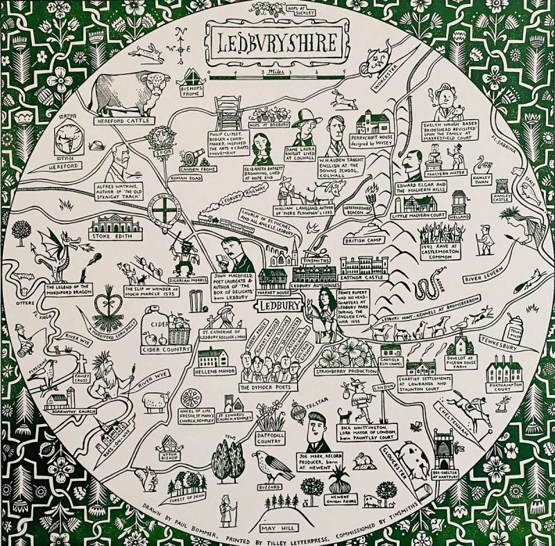 Ledburyshire Map Paul Bommer