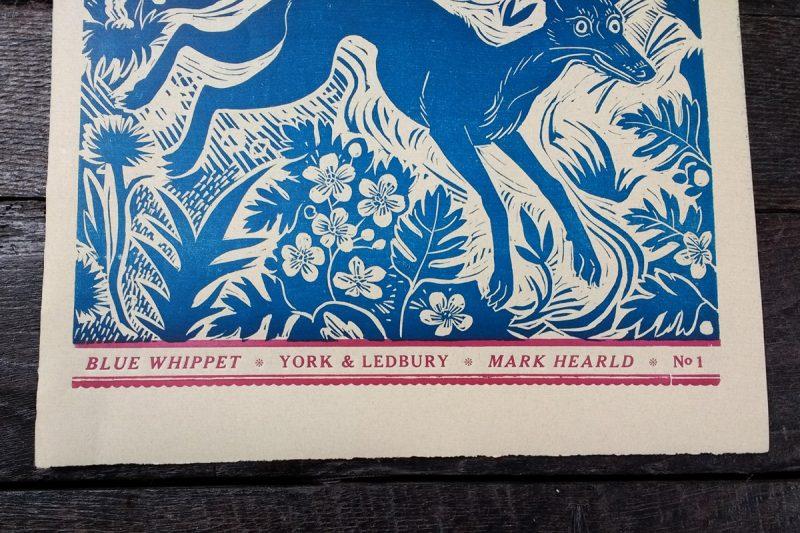Mark Hearld Papier Dominote Whippet