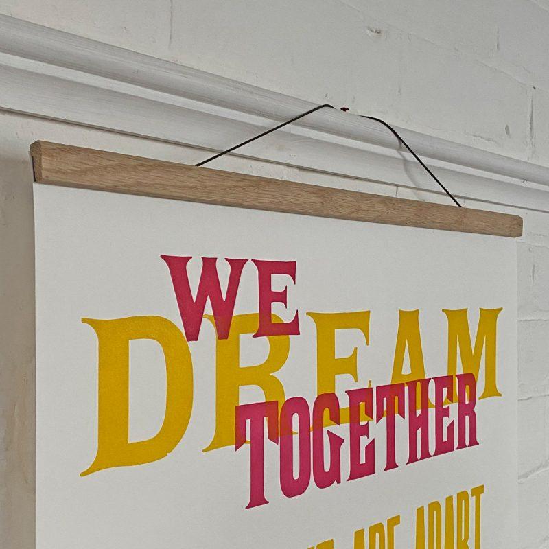 Oak Poster Hanger Tinsmiths