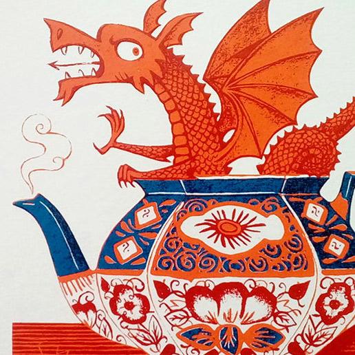 Paul Bommer Welsh Gaudy print