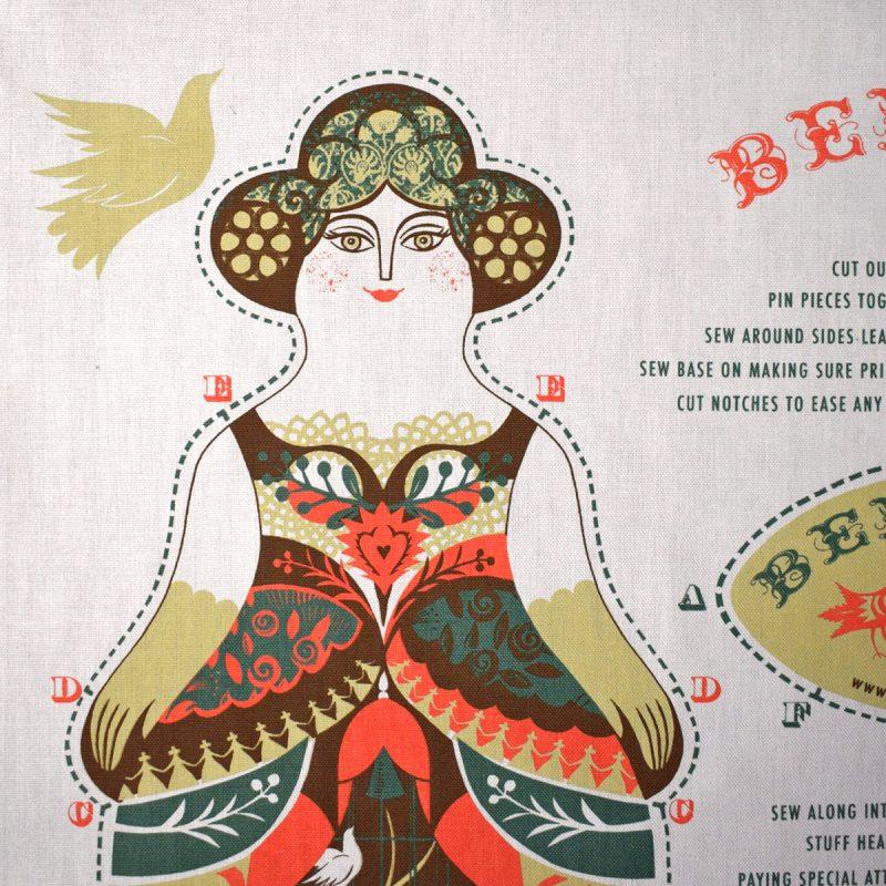 Printed Cotton Teatowel - Bertha
