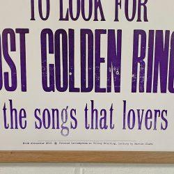 Tilley Letterpress Jackdaws Poster Tinsmiths