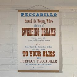Tilleys Letterpress Peccadillo Poster Tinsmiths