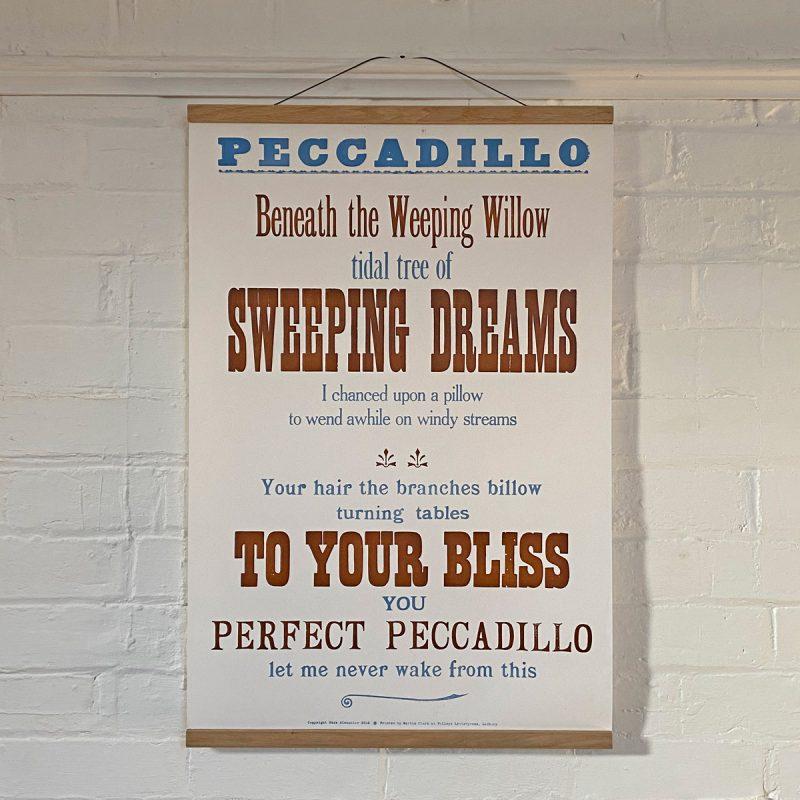 Tilleys Letterpress Peccadillo Poster Tinsmiths