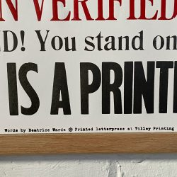 Tilley Letterpress Printing Office Poster Tinsmiths