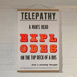 Tilley Letterpress Telepathy Poster Tinsmiths