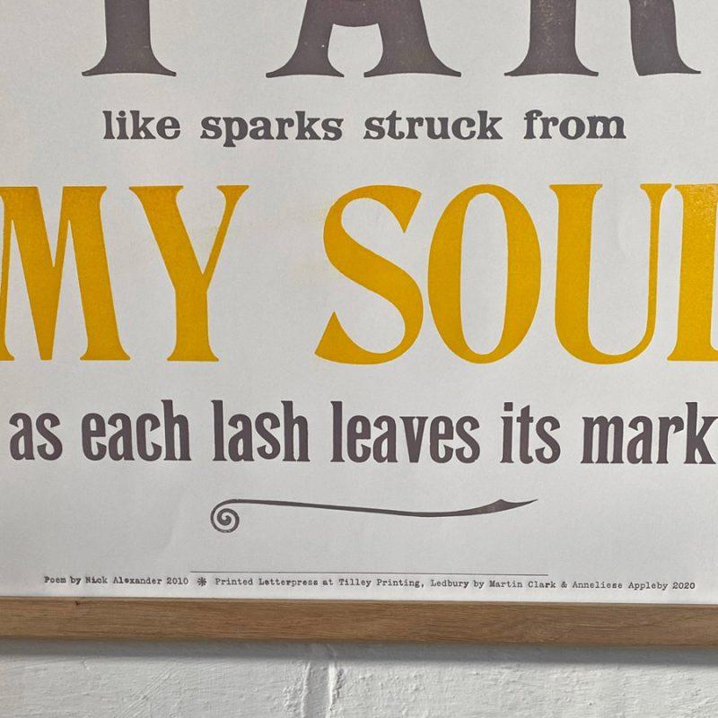 Tilley Letterpress Venus Poster Tinsmiths