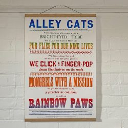 Tilley Letterpress Alley Cats Poster Tinsmiths
