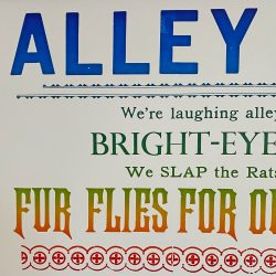 Tilleys Letterpress Alley Cats Poster Tinsmiths