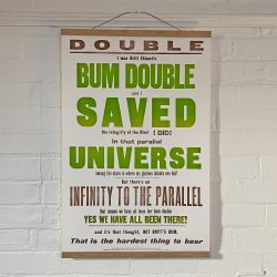 Tilleys Letterpress Bum Double Poster Tinsmiths
