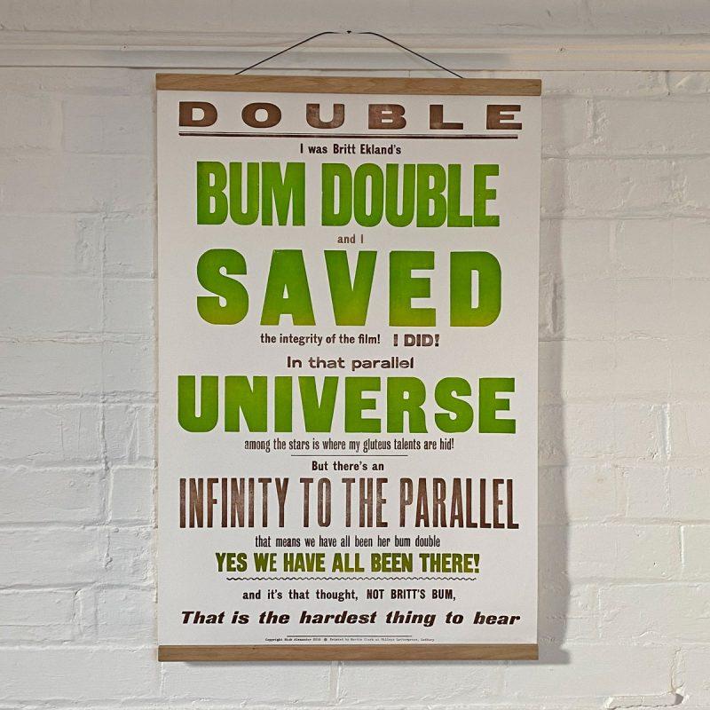 Tilleys Letterpress Bum Double Poster Tinsmiths