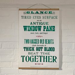 Tilleys Letterpress Glance Poster Tinsmiths