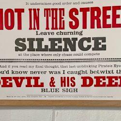 Tilleys Letterpress Head Poster Tinsmiths